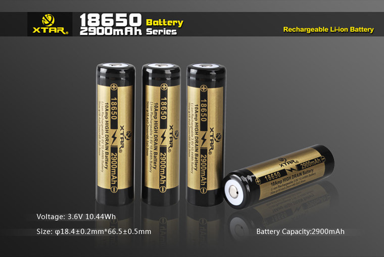 18650 2900mAh IMR Battery (Unprotected) - Xtar Direct UK