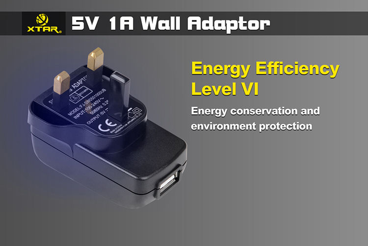 5V 1A USB Wall Adapter Plug