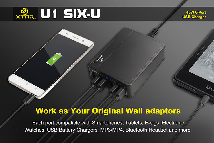 U1 Six U 45W 6 Port USB Charger Hub 04