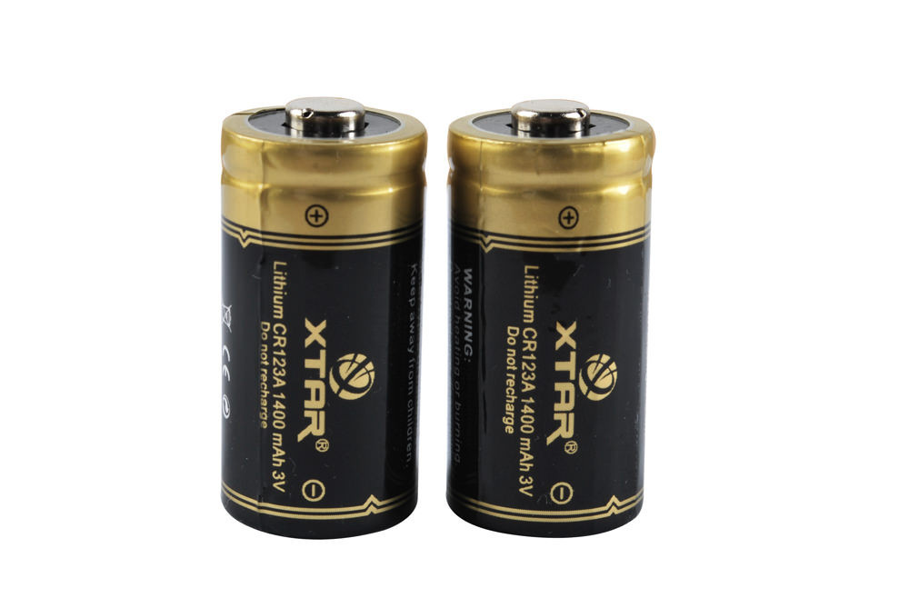 CR123A 1400mAh Batteries (Non-rechargeable) – Pair