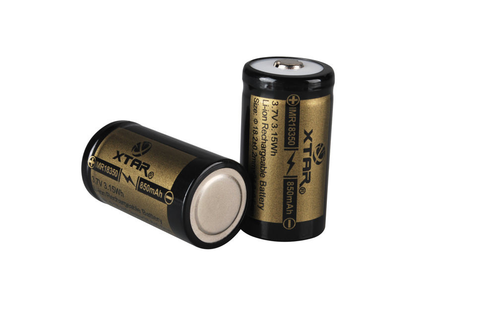 18350 850mAh IMR Battery (Unprotected)
