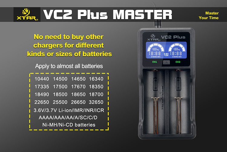 Vc2 Plus Master Charger Xtar Direct Uk