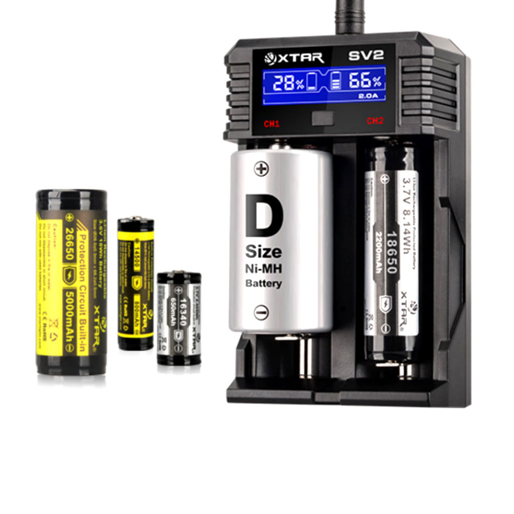 Xtar SV2 Rocket Li-ion, Ni-MH & Ni-CD Battery Charger